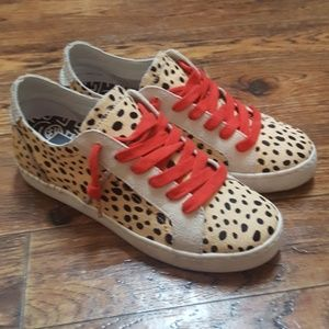 c1c71b33cb7b Dolce Vita Shoes - Dolce Vita Zalen Calf Hair Lace Leopard Sneaker